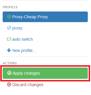 How to setup SwitchyOmega with Residential proxies - step 7